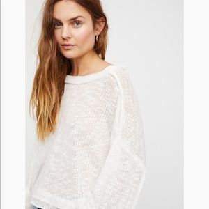 Free People White Sweater Top